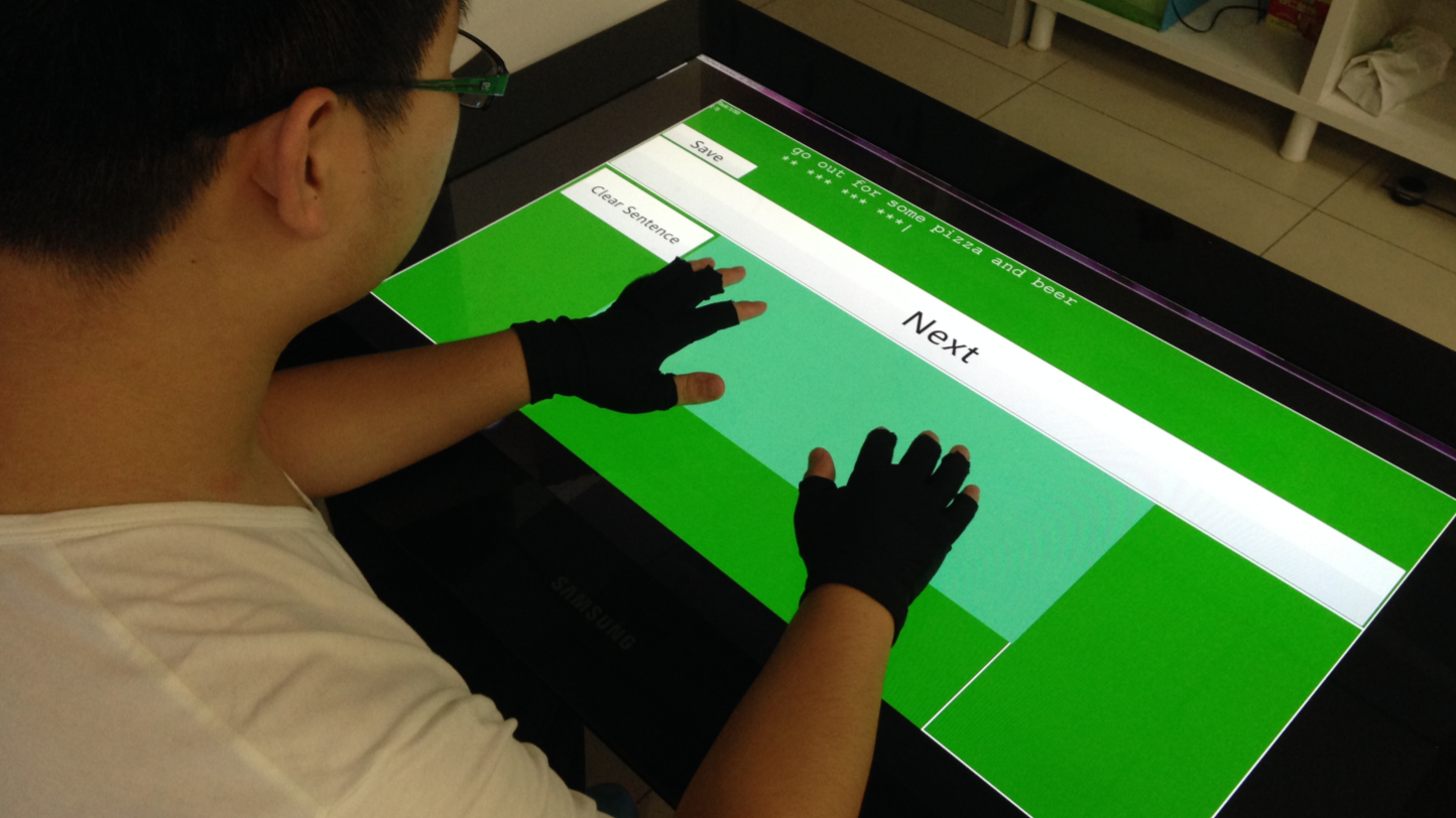 TOAST: Ten-Finger Eyes-Free Typing on Touchable Surfaces